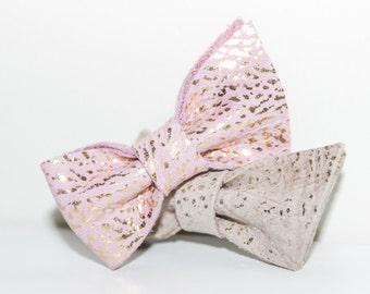 Baby leather bow headband - leather hair bow - leather baby bow - baby headband bow - baby leather bow - girl leather bow - leather headband