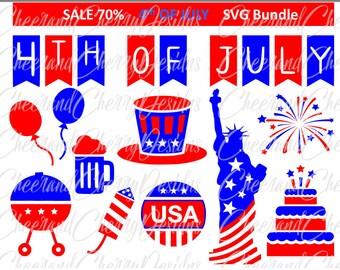 4th of july Bundle fourth of july SVG America SVG Independence day ClipArt Cake svg Statue of Liberty svg Fireworks svg Bbq Cricut USA svg