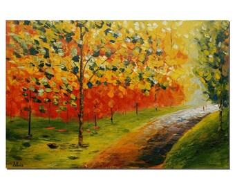 Canvas Art, Wall Art, Abstract Art, Landscape Painting, Art, Large Art, Large Painting, Oil Painting, Abstract Painting, Autumn Painting
