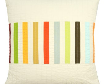 Striped Modern Throw Pillow - Picket (Multi)