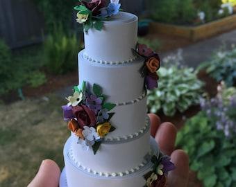 Beautiful 5 layer cake - finished project