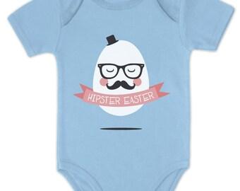 Hipster Easter Mister Egg Baby Short Sleeve Onesie Bodysuit