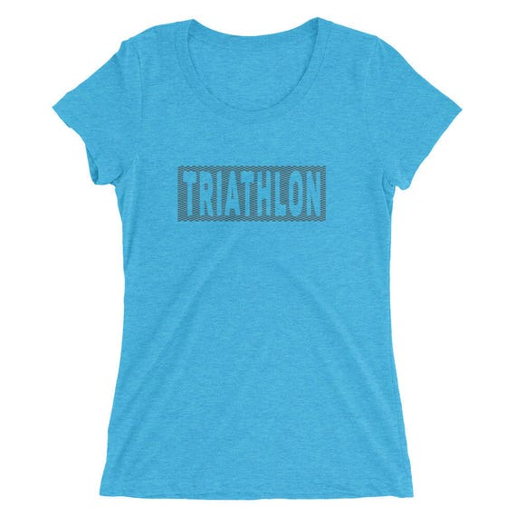 Women's Triathlon Triblend T-Shirt - Triathlon Shirt - Swim Bike Run Shirt - Women's Short Sleeve Shirt