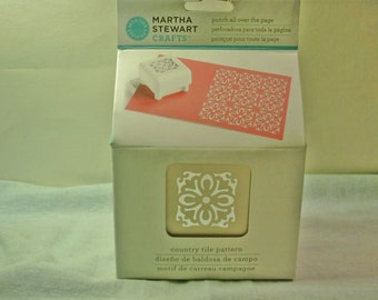 Martha Stewart Crafts COUNTRY TILE Pattern Punch All Over the Page New in Box