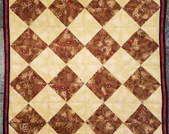 Half Square/Diamond Shape Lap Quilt