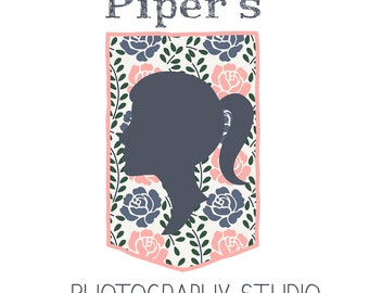 Photography Premade Logo Design - for photographers designers small business owners - silhouette girl