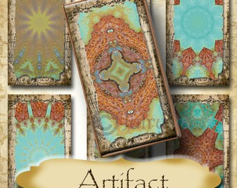 ARTIFACT•1x2 Images•Printable Digital Images•Cards•Gift Tags•Stickers•Magnets•Digital Collage Sheet