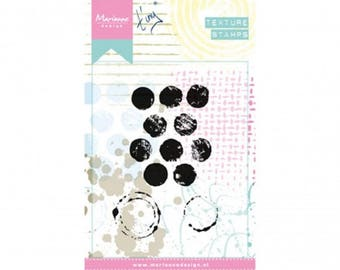 Stamp clear Marianne Design Collection Texture Stamps, Texture points, mixed media, Scrapbooking, Cardmaking, crafting