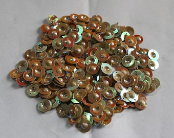 100 Rainbow Beige Color/Round Sequins / Metallic Texture/ KRS658