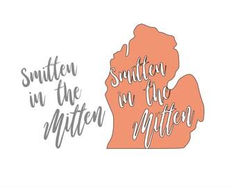 Michigan Smitten In The Mitten Decal