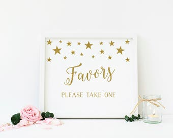 Twinkle Little Star Party Favor Sign, Please Take One, Shower Favor Sign, Twinkle Little Star First Birthday, Instant Download - SG1