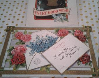Vintage Postcards (2)  1910 - Posted - Greeting Postcards