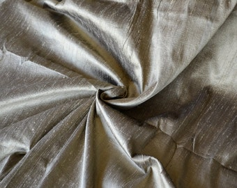 Silk dupioni in  Dull Gold with Black shimmer,Extra wide  54 inches , Half yard, DEX  292