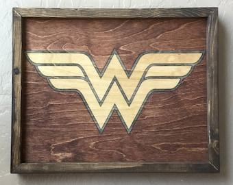 Wonder Woman Wooden Inlay Wall Art