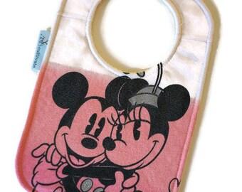 Mickey and Minnie Upcycled T-shirt Bib