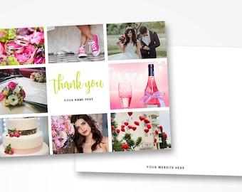 Photographer Thank You Card Template - 5x7 Printable Thank You - Photoshop Template - Photography Mockup - Wedding Printable Thank You Card