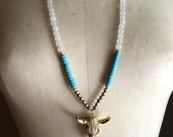 "34"" longhorn necklace."