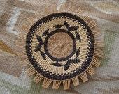 Hupa Yurok or Karok California Indian Basket Tray / Plaque
