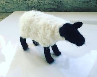 Needle felted Suffolk Sheep Ewe