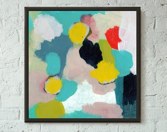 Don't Stop No. 3 of 9 // Modern Abstract Art Original 8x8 Mixed Media Acrylic Painting on Canvas Panel, Free US Shipping, Lisa Barbero