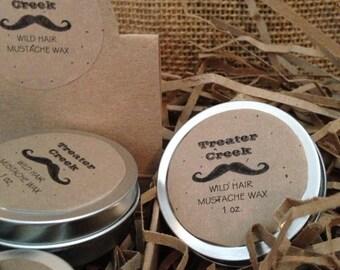 Wild Hair - Mustache Wax - Handle Bar Mustache