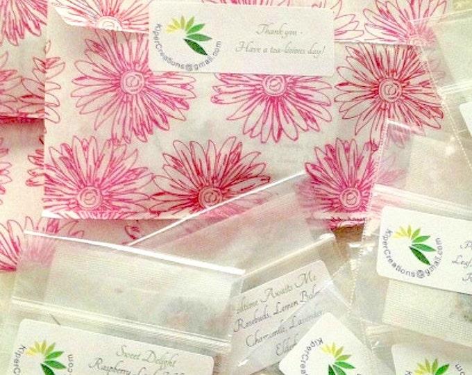 Featured listing image: Organic Tea, Tea Sampler, Loose Leaf, Ready To Use Tea, Single Serve Tea, Tea Sampler, Herbal Tea, Gift for Mom, Gift for Her, Gift for Him