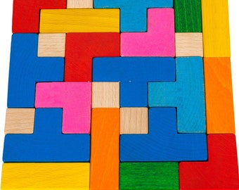 Tetris  - Learning Toy - Montessori toddler toy - Toddler birthday gift - Wooden toy - Educational toy