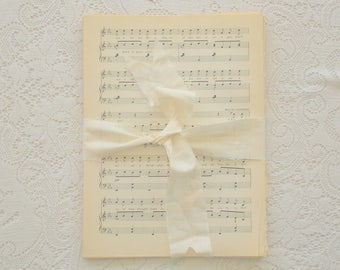 Vintage Paper Book Page Pack: Music