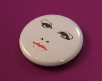 Prince When Doves Cry Face Fan Tribute Commemorative Pin Badge Brooch - 25mm