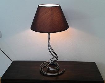 Bedroom bedside wrought iron desk lamp handmade home decor bedside lighting black fabric lampshade table lamp