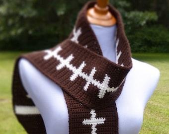 Football Scarf - Crochet PATTERN - INSTANT DOWNLOAD