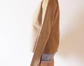 45% DE RABAIS ***Vintage Calvin Klein leather/suede veste/jacket -90's