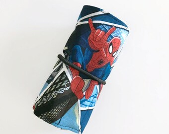 Spiderman Crayon Roll
