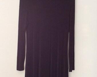 1990s Black Dress Mock Turtleneck Stretchy