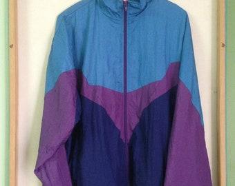 Vintage Olympic USA by JC Penney Track Sweatshirt,Windbreaker Colour Block/Sportwear/Street wear/Hiking/Hawaii/Skateboards/Surfing.