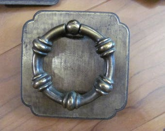 Wow...Lowered Price Extra Large Drawer Pulls, Handles, Set 3 Round with Square base