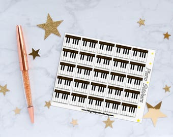 Piano Planner Stickers, Piano Stickers, Piano Lessons Stickers, Music Stickers, Vinyl Stickers