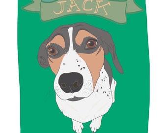 Haustier Porträt Print - eigene Haustier Porträt - perfektes Geschenk für Tierfreunde - Hunde, Welpen, Katzen, Kätzchen, Vögel - eigene Haustier Porträt druckt