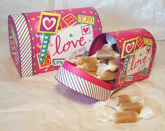Valentines Day Gift - Caramel Candy Mailbox