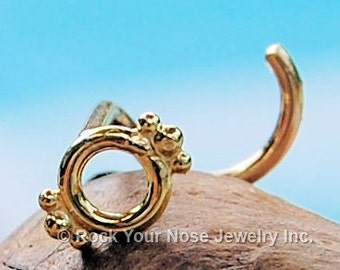Indian Nose Stud/Dainty Nose Stud/Nose Stud Gold/Gold Nose Pin/Gold Nose Ring/Nose Bone/Nose Screw/Solid Gold Nose Ring- CUSTOMIZE