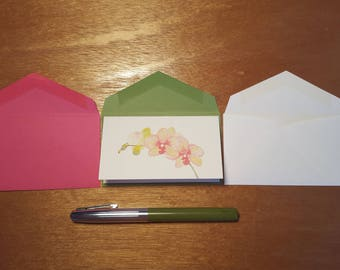 Blooming Orchid Enclosure Card 10 Pack