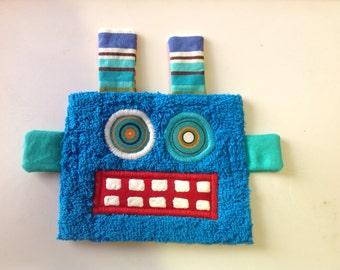 Bright Blue Robot Guy