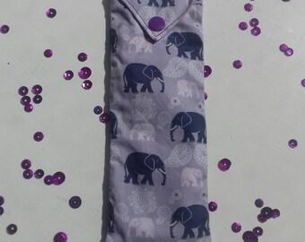 Purple Elephants Pen Pouch.