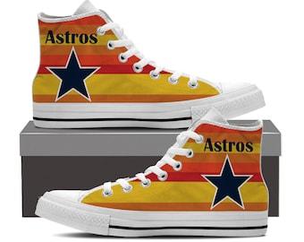 Houston Astros Custom Printed High Top Sneakers Womens Mens and Kids