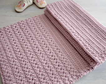 Crochet Pattern - Crochet Baby Blanket Pattern New Baby Afghan Pattern Baby Girl Blanket DIY Shower Gift - Brymmlette P123