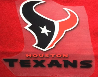 Houston Texans  Iron-On Heat Transfer ~~Decorate all the clothing ,bags or other fabrics.