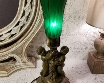 Tiffany Meyda Pond Lily cherub lamp