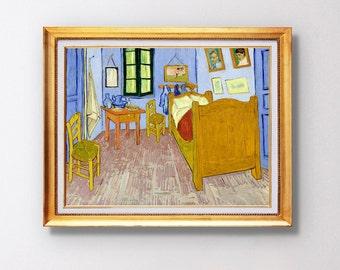 Vincent van Gogh - Van Gogh's Bedroom in Arles - Fine Art Glicée - 1889 - SKU 0037