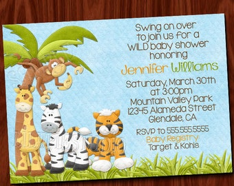 King of the Jungle Baby Shower Invitation PRINTABLE Digital File