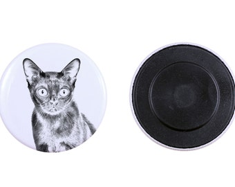 Magnet with a cat -Bombay cat